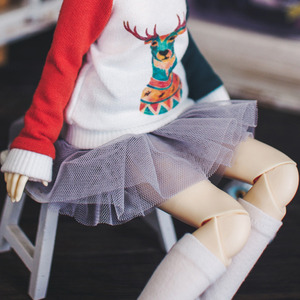 Bunny Tutu Skirts - Gray