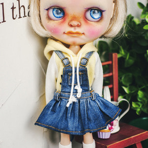 Blythe Washing Overall Skirts - Blue