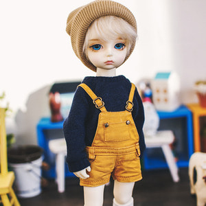 USD Washing Cotton Short Overalls - Mustard