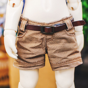 USD Washing Cotton Short Pants - Brown