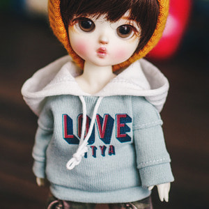 LOVE Hooded T - Mint