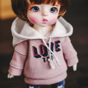 LOVE Hooded T - Pink