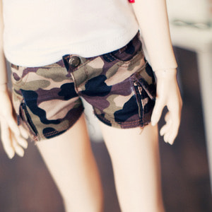 SD13 Girl Cargo Hot Pants - Millitary
