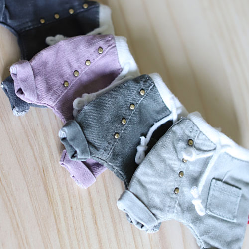 USD 5 Color Ston Washing Button Baggy Pants