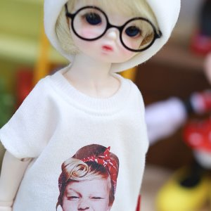 USD Cute Girl T shirt - White