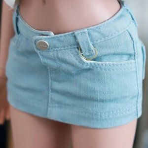 Smart Doll Stone Washing Cotton Skirt - Sky