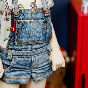 MSD & MDD Washing Short Overalls - Blue