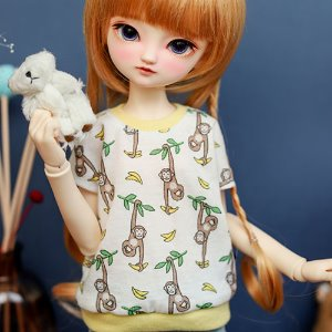 MSD & MDD Monkey T shirt - White