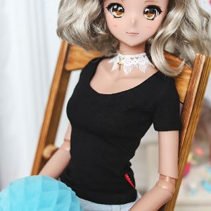 SD13 Girl & Smart Doll Slim Short Sleeve T shirt - Black