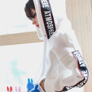 SD13 Boy Lettering Hooded T - White