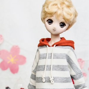 MSD & MDD Stripe Coloring Hooded T - Gray
