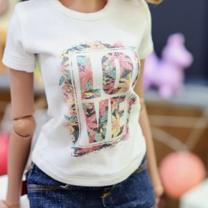 SD13 Girl & Smart Doll Flower Love T shirt - White