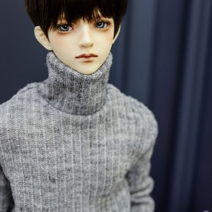 SD13 Boy Simple Turtle Neck Kint - L.Gray