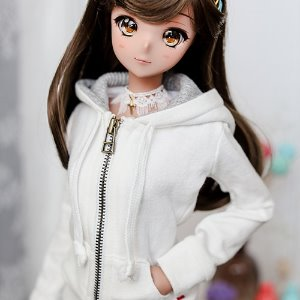 SD13 Girl & Smart Doll Basic Zip­up Hooded T - White