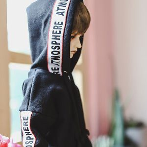 SD13 Boy Lettering Hooded T - Black