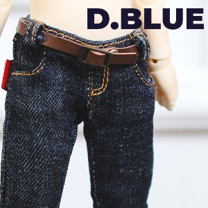 USD Stone Washing Real Skinny Jeans - D.Blue