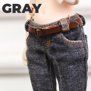 USD Stone Washing Real Skinny Jeans - Gray