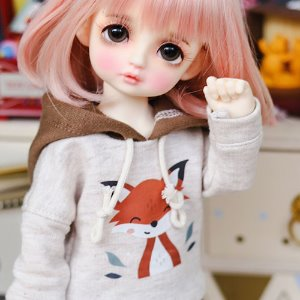 USD Cute Fox Hooded T - Brown
