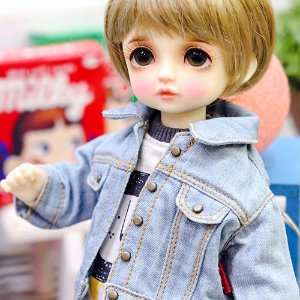USD Stone Washing Denim Jacket - Sky
