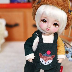 Cute Fox Overall-Green