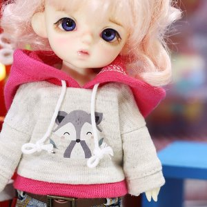 Cute Raccoon Hooded T - Pink