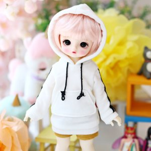 USD Two-Line Hooded T Set_White