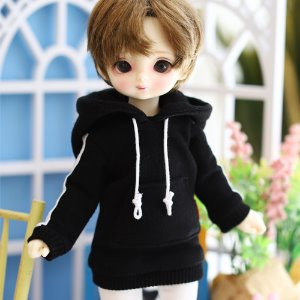 USD Two-Line Hooded T Set_Black