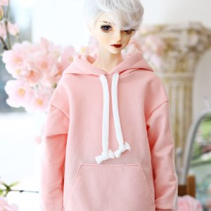 SD13 Boy Three-Line Hooded T - Pink