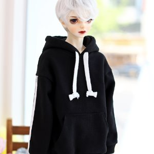SD17 Three-Line Hooded T - Black