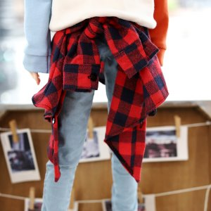 SD17 & SD13BOY & SD13Girl  Layered Shirt - Red