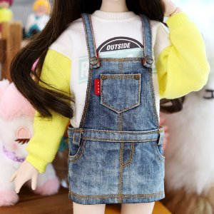 MSD & MDD  Washing Short Overalls Skirt - Blue