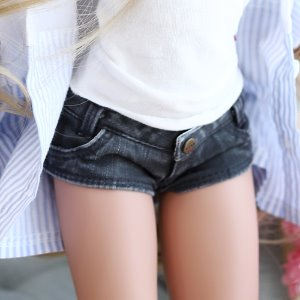 SD13 Girl & Smart Doll Stone Washing Cotton Pants - Black