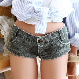 SD13 Girl & Smart Doll Stone Washing Cotton Pants - Khaki