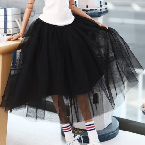 SD13 GIRL & Smart Doll long sha skirt - Black