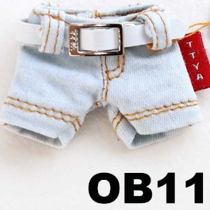 OB11  Denim Short Jeans - Sky