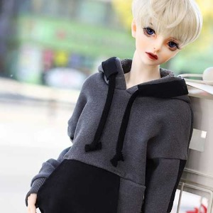 SD13BOY Pigment Coloration Hooded -black