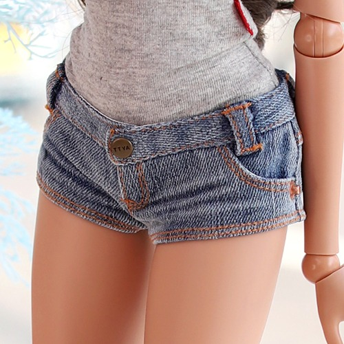 SD13 GIRL & Smart Doll New Washing Hot Pants - Blue