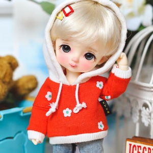 16cm Little Daisy Hooded-T - Orange