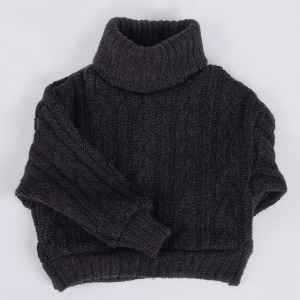 [SDB]Twisted turtle-neck knit(Black)