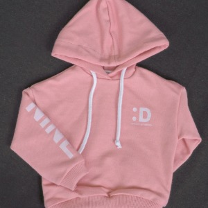 [SDB]Color over hood T-shirt(Pink)