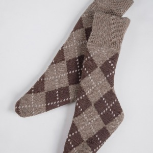 [SDB]NAL-Ankle socks(Argyle check brown)