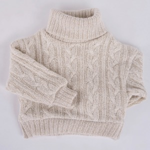 [SDB]Twisted turtle-neck knit(Oatmeal)