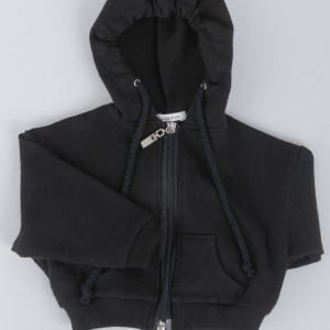 [SDB]Over fit hood zip-up(Black)